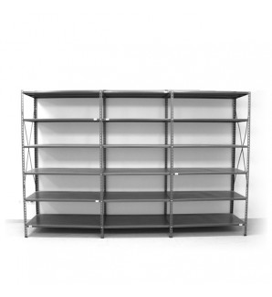 6 - level shelf 2200x3000x600