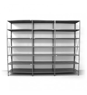 7 - level shelf 2500x3400x400