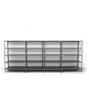 5- level shelf 2000x4000x300