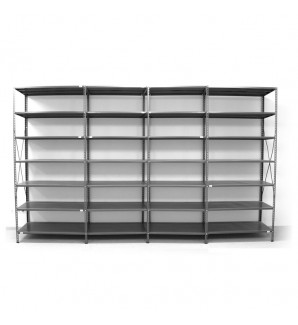7 - level shelf 2400x4600x600