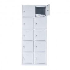 10 - секционный mеталлический шкаф 1800x800x490