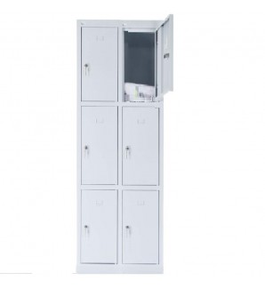 6 - section metal cabinet 1800x600x490