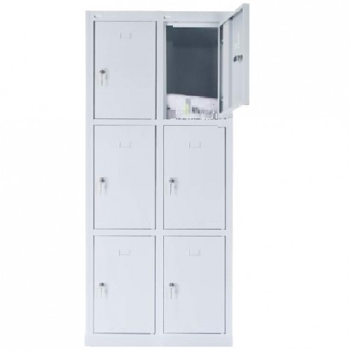 6 - section metal cabinet 1800x800x490