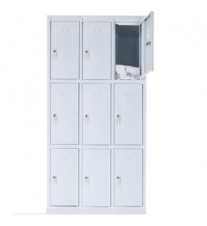 9 - section metal cabinet 1800x900x490