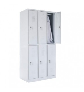 Шестиместный шкафчик 1800x900x490
